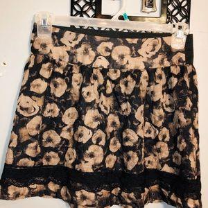 STOOSHY Ladies floral skater elastic skirt